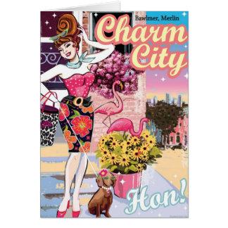 Cartões de Hon da cidade do encanto