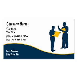 Cartões de indústria da construção modelo cartao de visita