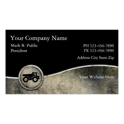 Cartões de indústria da construção cartões de visitas