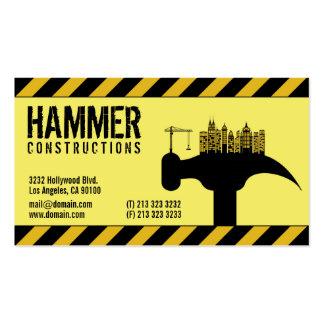 Cartões de indústria da construção modelos cartoes de visitas