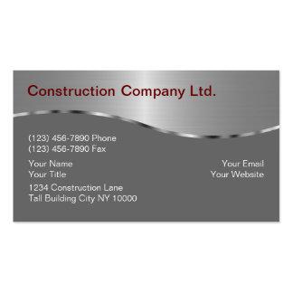 Cartões de indústria da construção modelos cartões de visitas