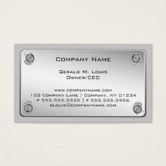Cartões de indústria da construção da placa de