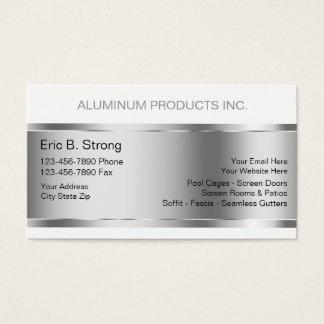 Cartões de indústria da construção de alumínio