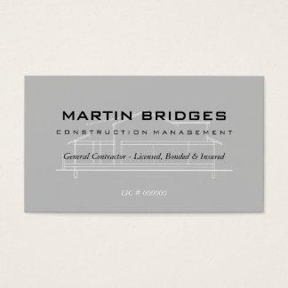Cartões de indústria da construção gerais modernos