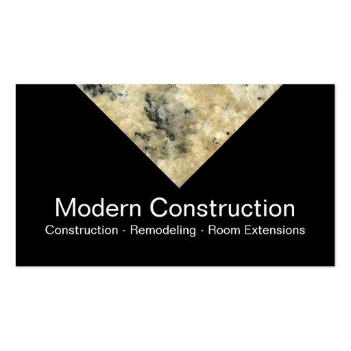 Cartões de indústria da construção modernos cartão de visita