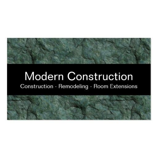 Cartões de indústria da construção modernos cartao de visita