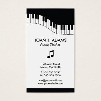 Cartões de indústria musical do teclado do