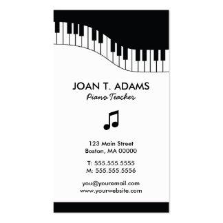 Cartões de indústria musical do teclado do profess modelo cartões de visita