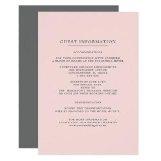 Cartões de informação cinzentos do convidado do