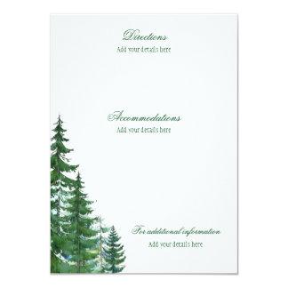 Cartões de informação dos detalhes do casamento da