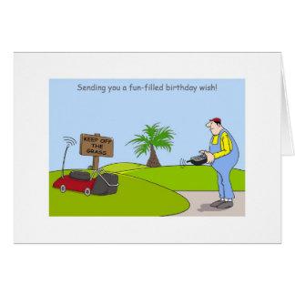 Cartões de jardinagem do feliz aniversario,