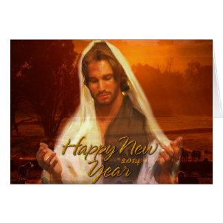 Cartões de Jesus 2014 do feliz ano novo