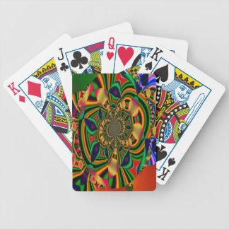 Cartões de jogo abstratos coloridos do póquer da baralho de truco