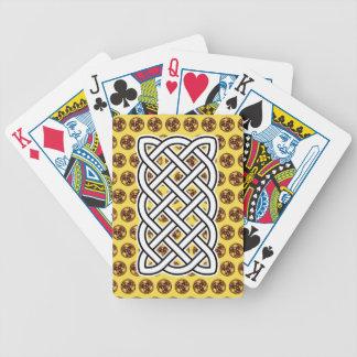 Cartões de jogo amarelos da bicicleta do nó baralhos para poker