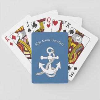 Cartões de jogo - âncora do navio com nome cartas de baralho