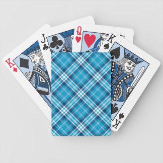 Cartões de jogo azuis da xadrez jogos de baralhos
