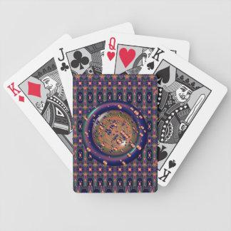 Cartões de jogo borbulhantes da lente baralhos de carta