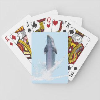 Cartões de jogo clássicos azuis do golfinho baralhos
