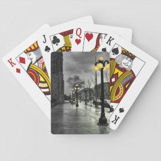 Cartões de jogo clássicos da lâmpada de rua jogo de baralho