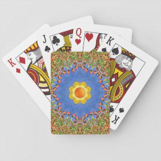 Cartões de jogo coloridos do dia ensolarado jogos de baralhos