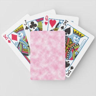 Cartões de jogo cor-de-rosa criados do design das baralhos para pôquer