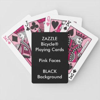 Cartões de jogo cor-de-rosa feitos sob encomenda baralho para pôquer