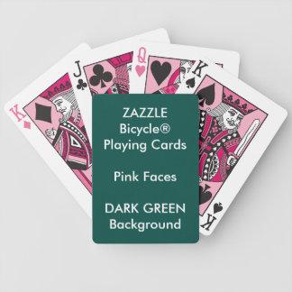 Cartões de jogo cor-de-rosa feitos sob encomenda baralhos de poker