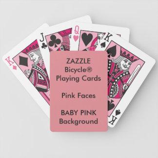 Cartões de jogo cor-de-rosa feitos sob encomenda baralhos para poker