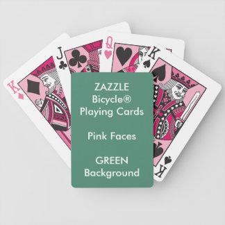 Cartões de jogo cor-de-rosa feitos sob encomenda carta de baralho