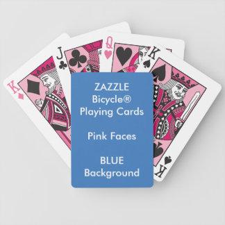 Cartões de jogo cor-de-rosa feitos sob encomenda cartas de baralhos