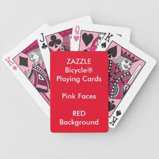 Cartões de jogo cor-de-rosa feitos sob encomenda jogo de baralho