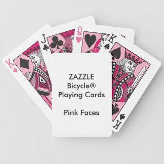 Cartões de jogo cor-de-rosa feitos sob encomenda jogos de baralhos