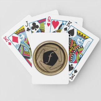 Cartões de jogo da abertura baralho para poker