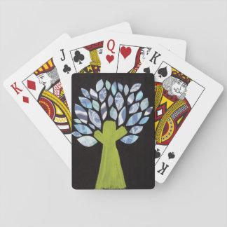 Cartões de jogo da árvore da noite baralhos