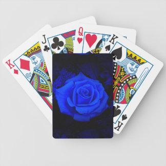 Cartões de jogo da bicicleta com o rosa do azul baralhos de pôquer