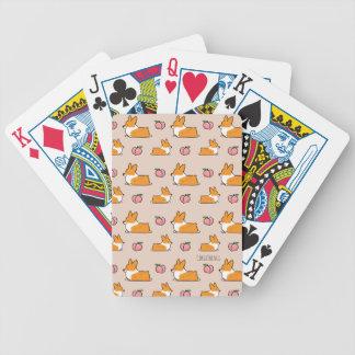 Cartões de jogo da bicicleta de Sploot do Corgi Baralhos De Pôquer