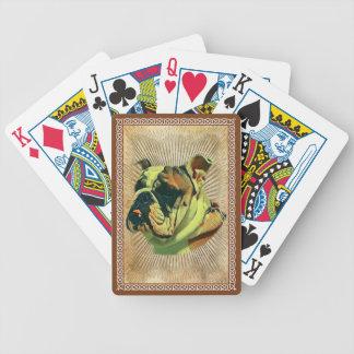 Cartões de jogo da bicicleta do buldogue baralhos de pôquer