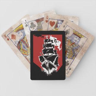 Cartões de jogo da bicicleta do navio de pirata jogos de baralhos