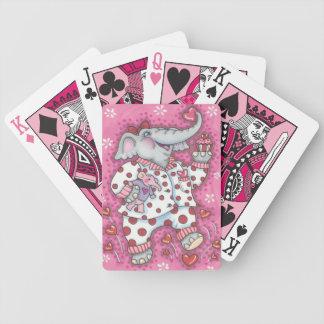 CARTÕES de JOGO da BICICLETA do ROSA do querido do Baralhos De Poker