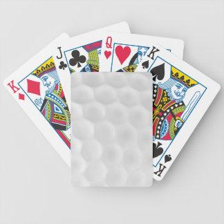 Cartões de jogo da bola de golfe baralhos para pôquer