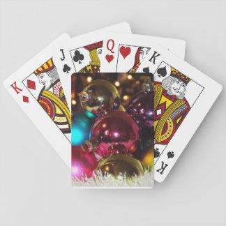 Cartões de jogo da bola do Natal Jogo De Baralho