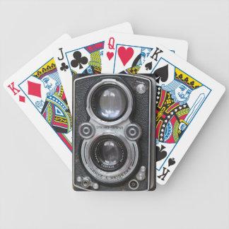 Cartões de jogo da câmera do vintage baralhos de pôquer