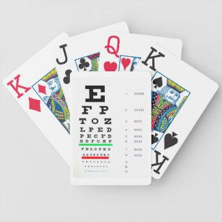 Cartões de jogo da carta de olho baralhos de cartas