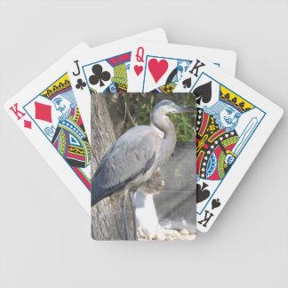 Cartões de jogo da garça-real de grande azul jogo de baralho