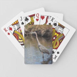 Cartões de jogo da garça-real jogo de carta