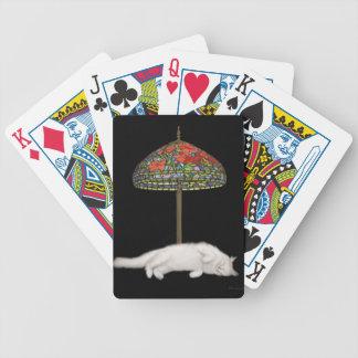 Cartões de jogo da lâmpada de Sun do gato do Baralhos