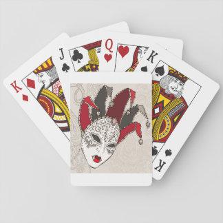 Cartões de jogo da máscara do carnaval do carnaval cartas de baralho