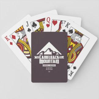 Cartões de jogo da montanha do Camelback (escura) Baralho