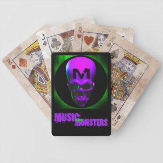 Cartões de jogo da música e dos monstro jogos de baralhos