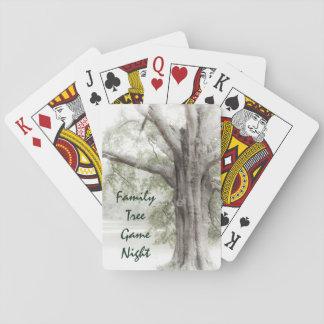 Cartões de jogo da noite do jogo da árvore jogo de carta